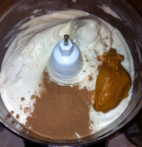 1 TBS each of peanut butter and cocoa powder, ready to blend