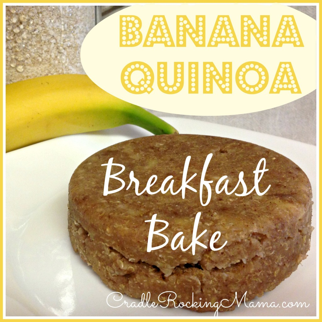 Banana Quinoa Breakfast Bake CradleRockingMama.com