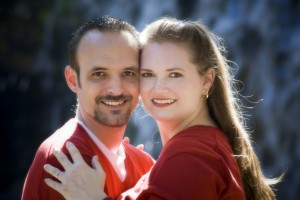 Our Engagement Photo...pre-marriage, pre-kids - don't we look YOUNG!