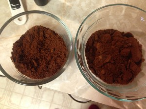 Batch #3 on the left, Batch #4 on the right.  It's powdery fine, now!