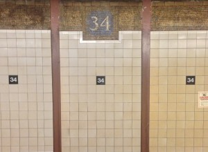 I love the tile work in the Subways in New York!