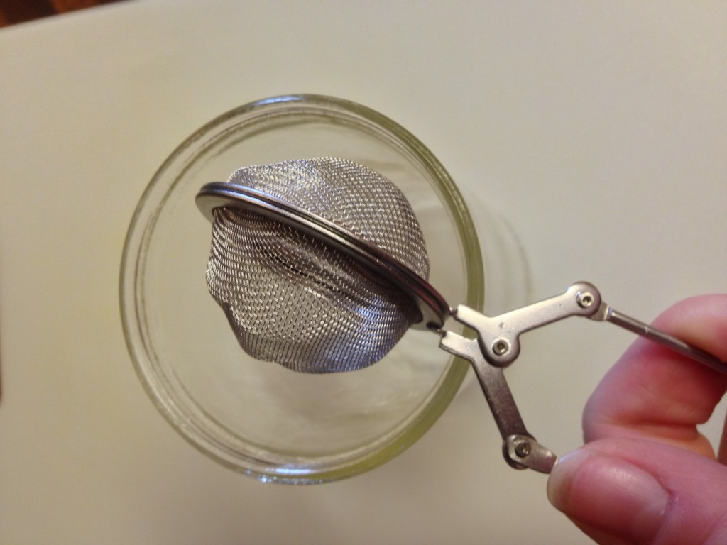The tea strainer I used to strain it after the fourth cleaning.