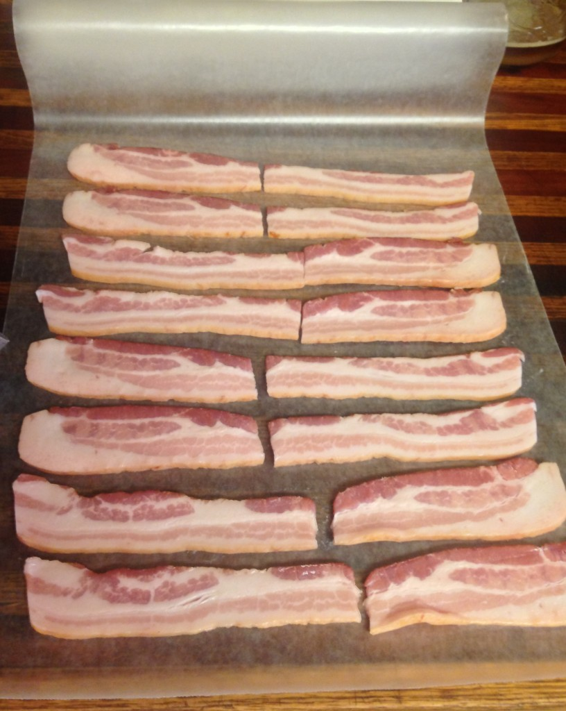 Lovely little strips of delicious piggy!