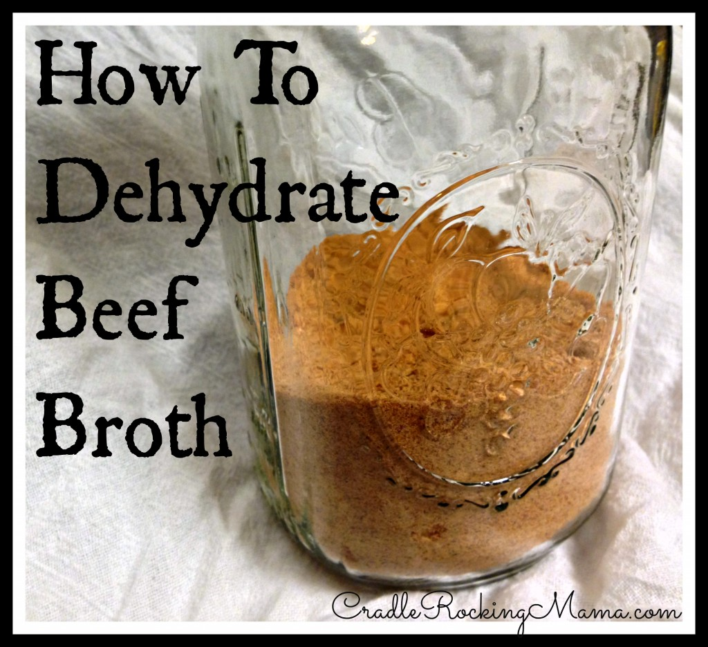 How to Dehydrate Beef Broth cradlerockingmama