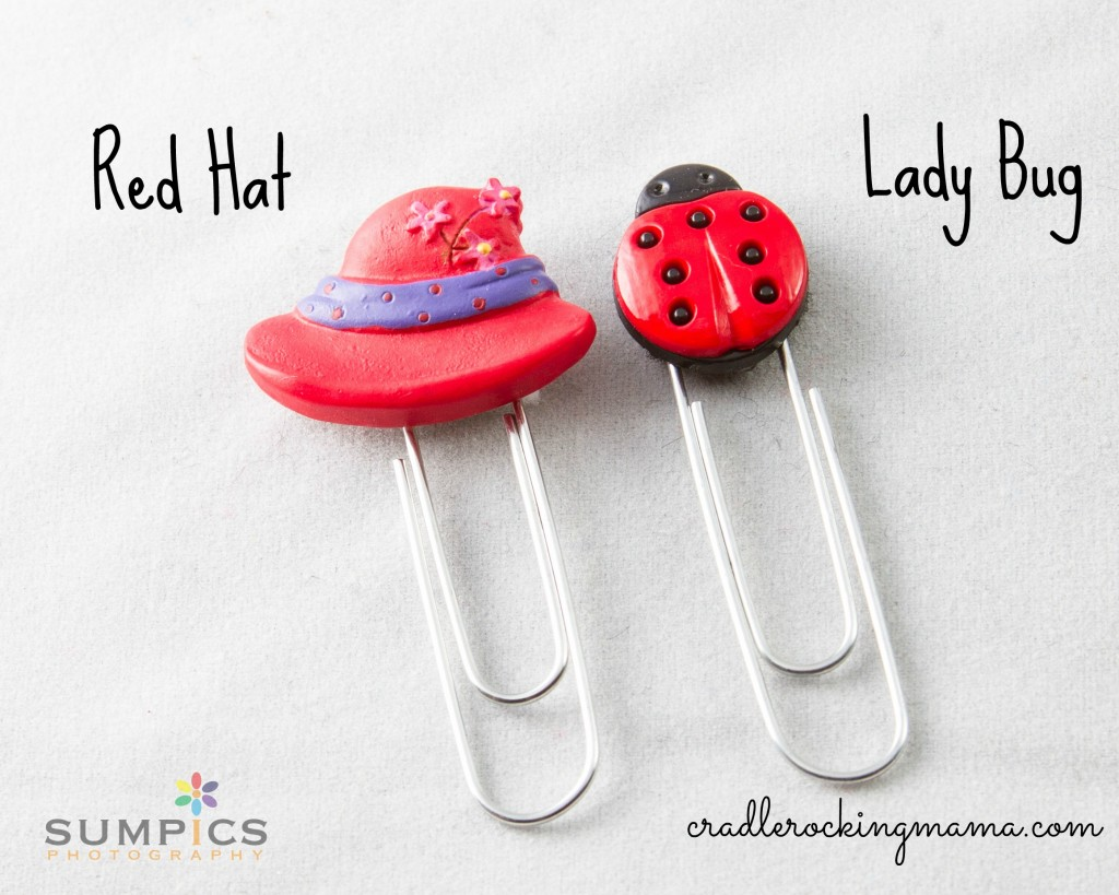 Red Hat and Lady Bug Bookmarks