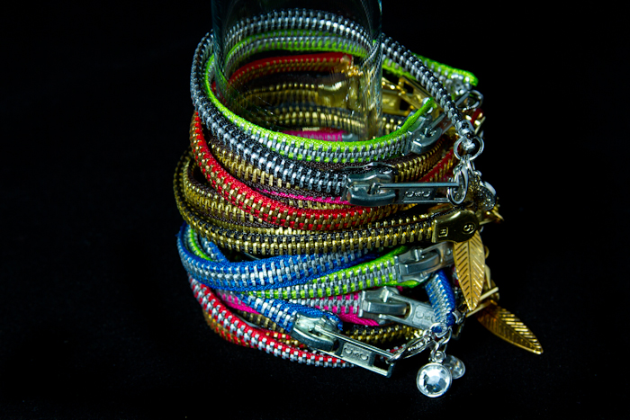 Zipper bracelets (very fun and hip!)