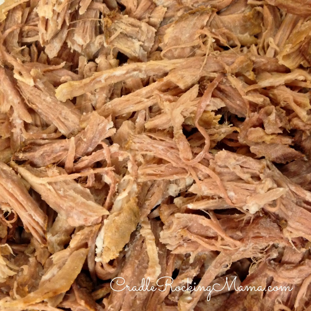 Shredded, beautiful pork roast!