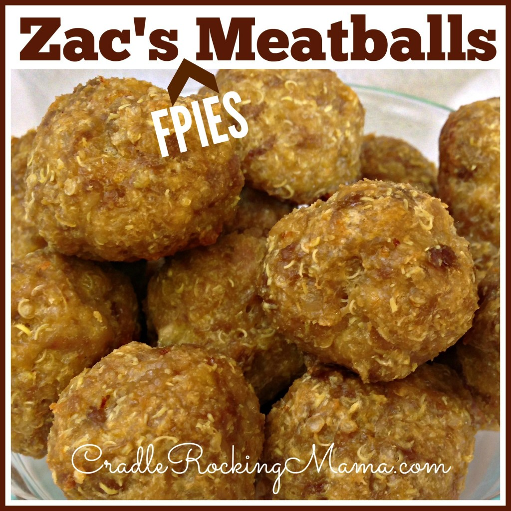 Zac's FPIES Meatballs CradleRockingMama