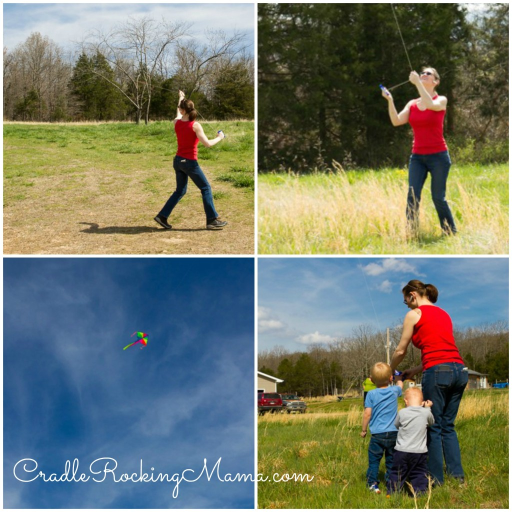 Flying a kite collage CradleRockingMama.com
