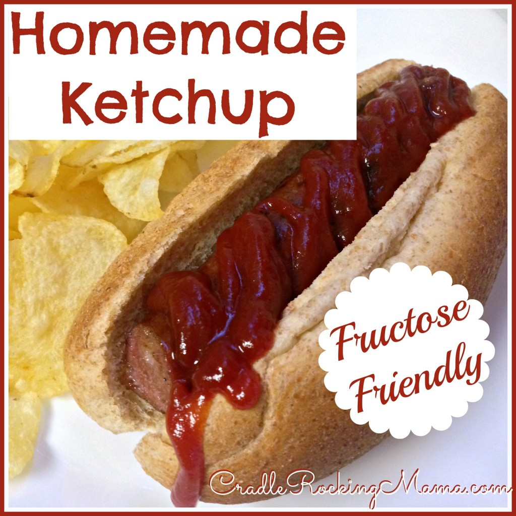 Homemade Ketchup Fructose Friendly CradleRockingMama.com