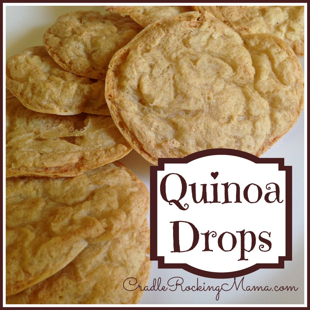 Quinoa Drops Recipe CradleRockingMama.com