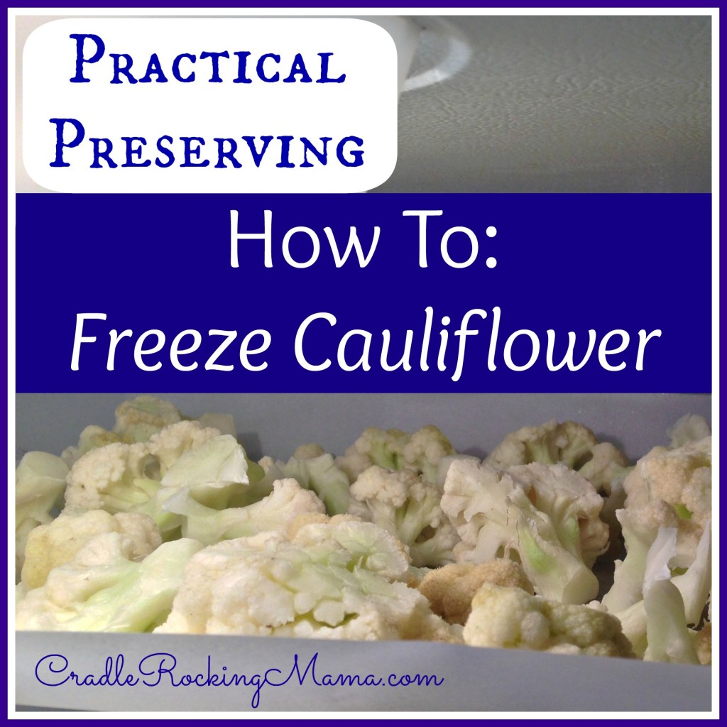 Practical Preserving How To Freeze Cauliflower CradleRockingMama.com
