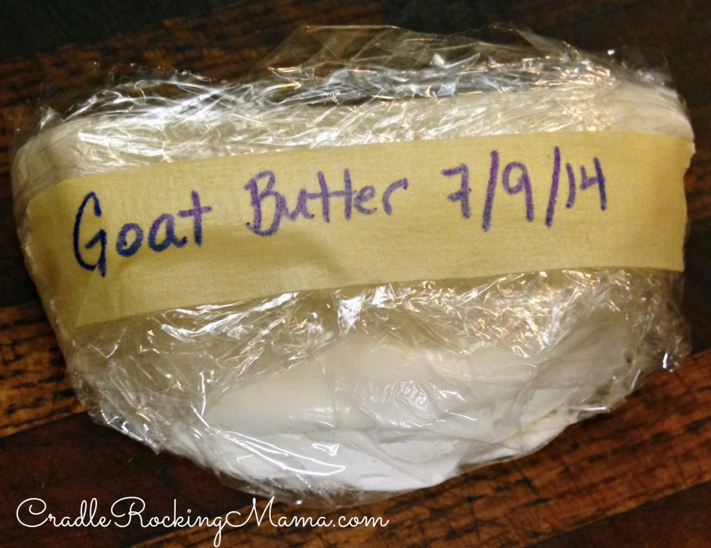 Freezing Goat Milk Butter CradleRockingMama.com