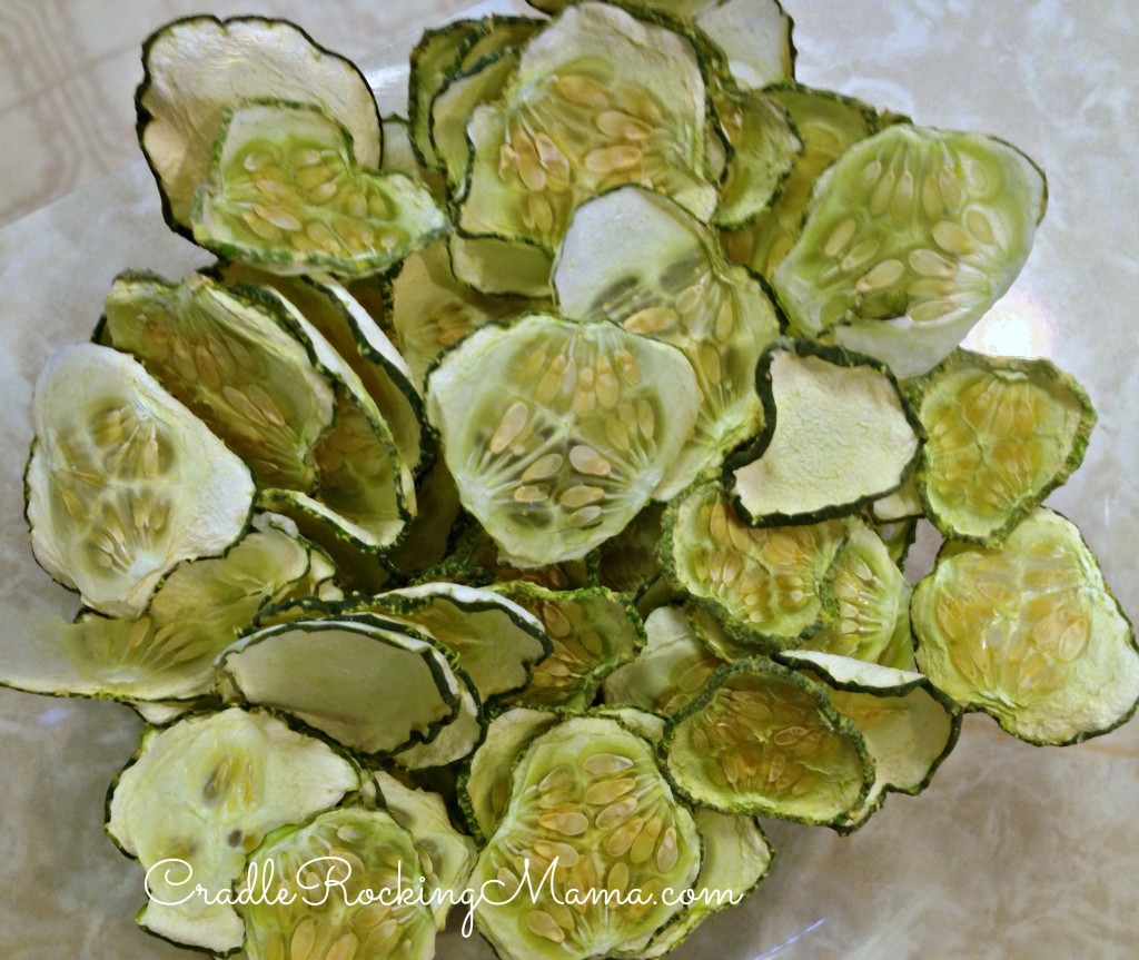 Cucumber chips CradleRockingMama.com
