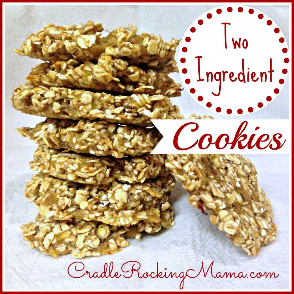 Two Ingredient Cookies CradleRockingMama.com