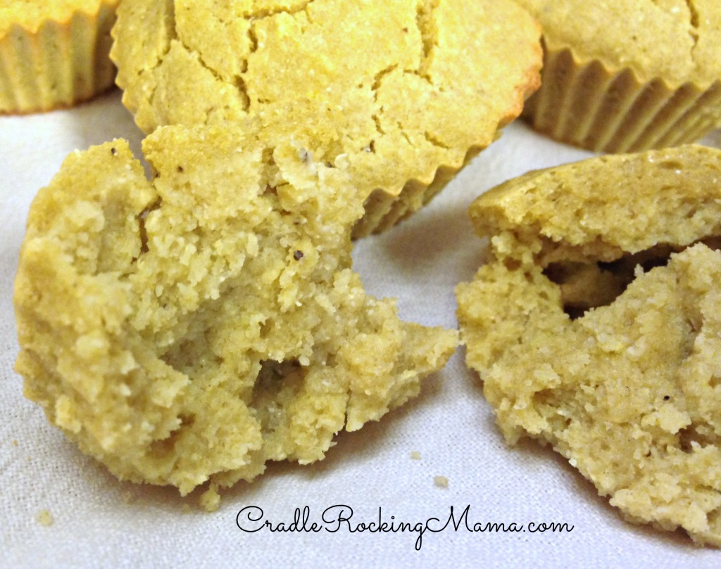 Bite of Banana Muffin CradleRockingMama.com