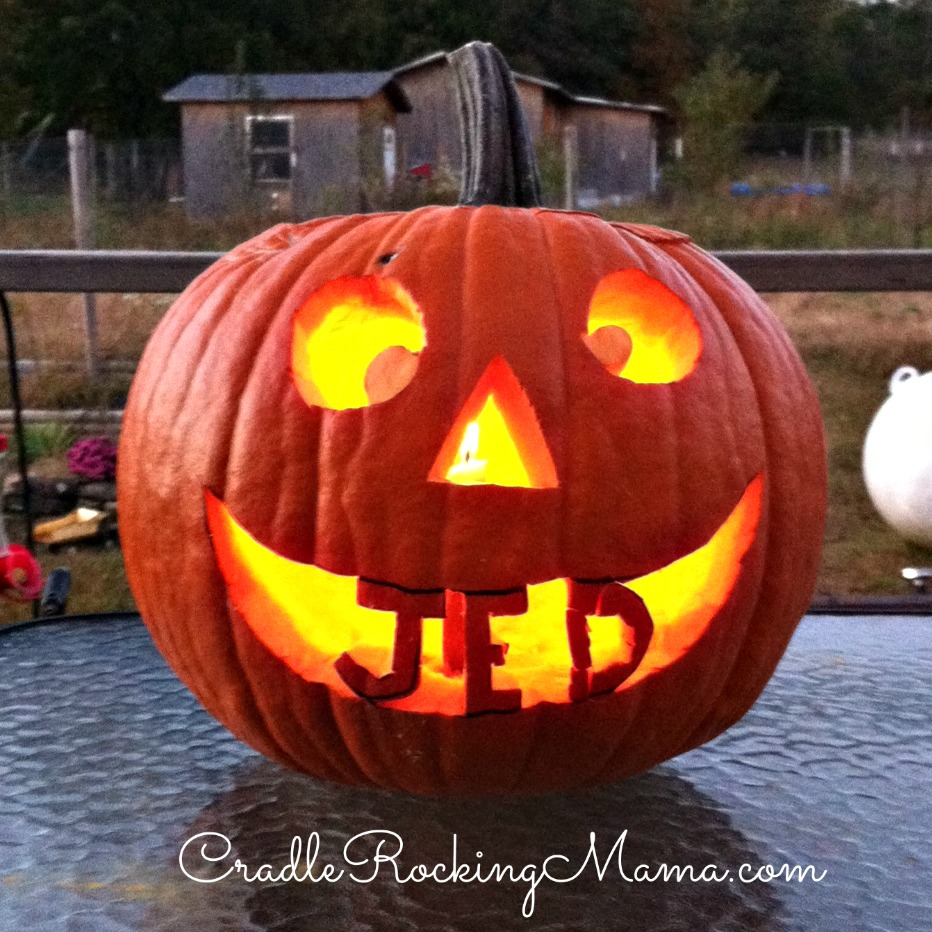 Jed's Pumpkin CradleRockingMama.com