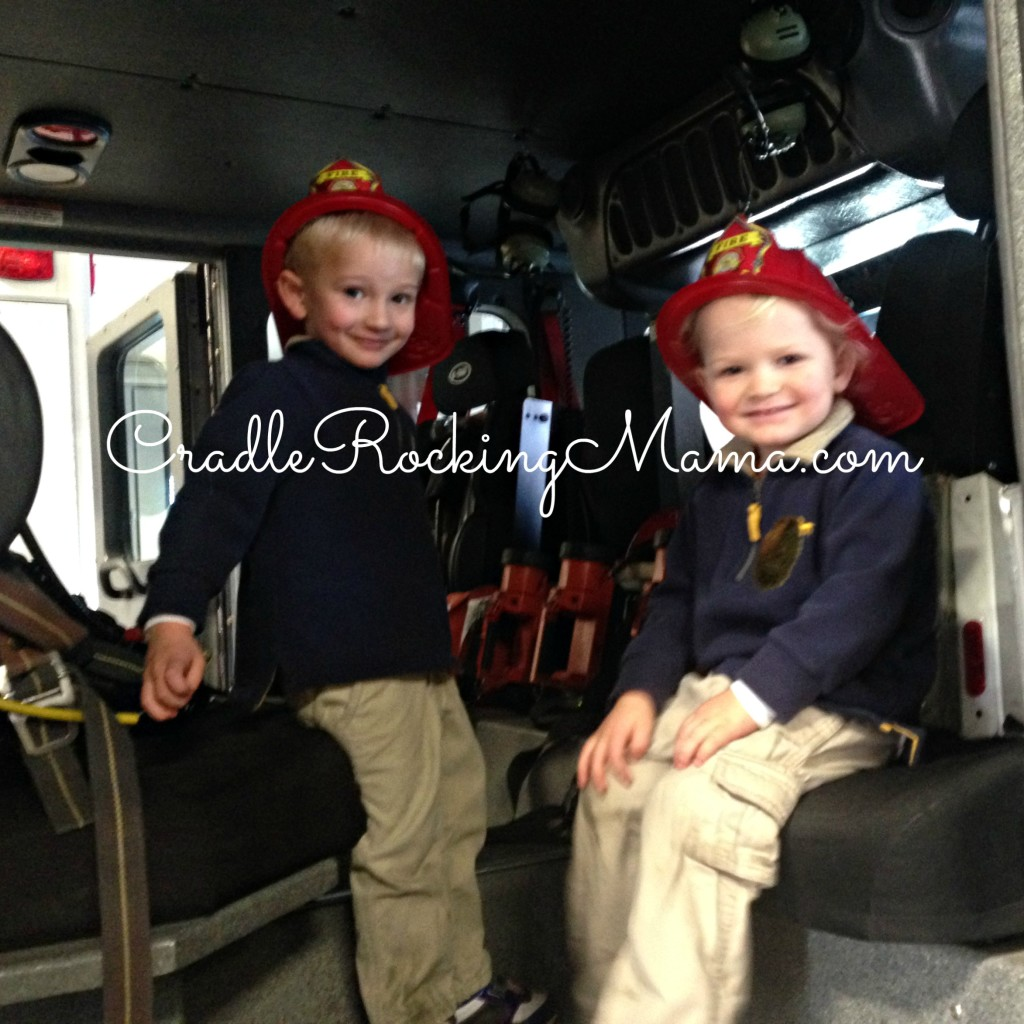 Smiling Fire Fighter Trainees CradleRockingMama.com