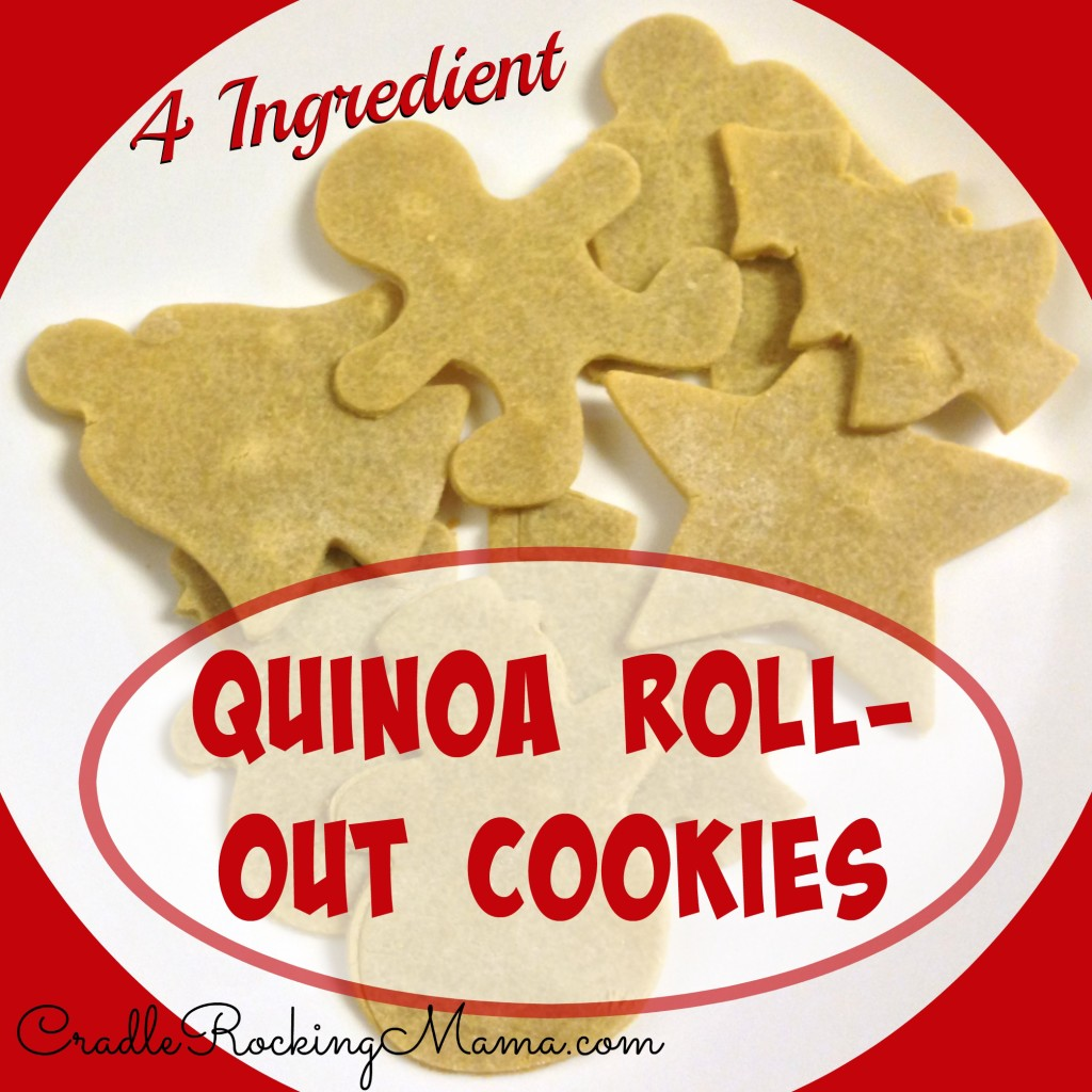 Quinoa Roll Out Cookies CradleRockingMama.com
