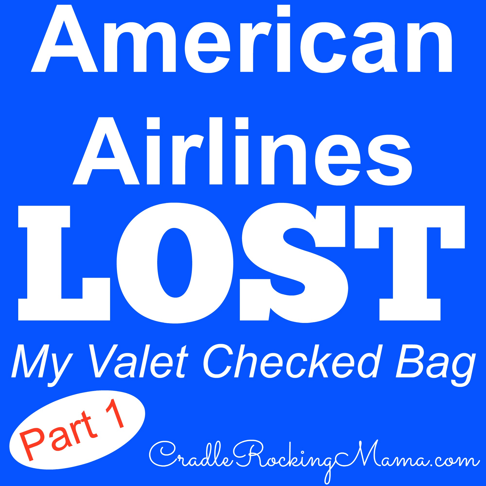 American Airlines Lost My Valet Checked Bag Part 1