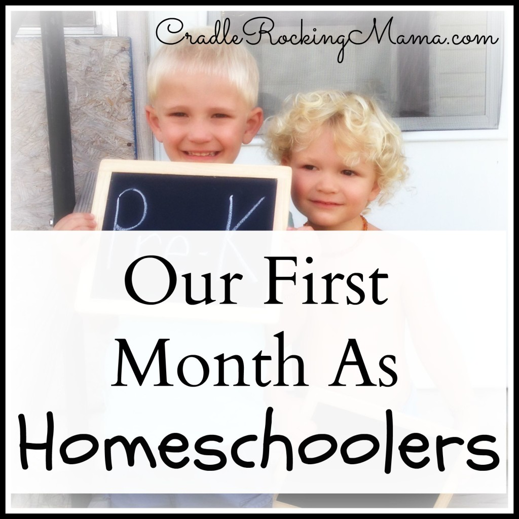 Our First Month As Homeschoolers CradleRockingMama.com