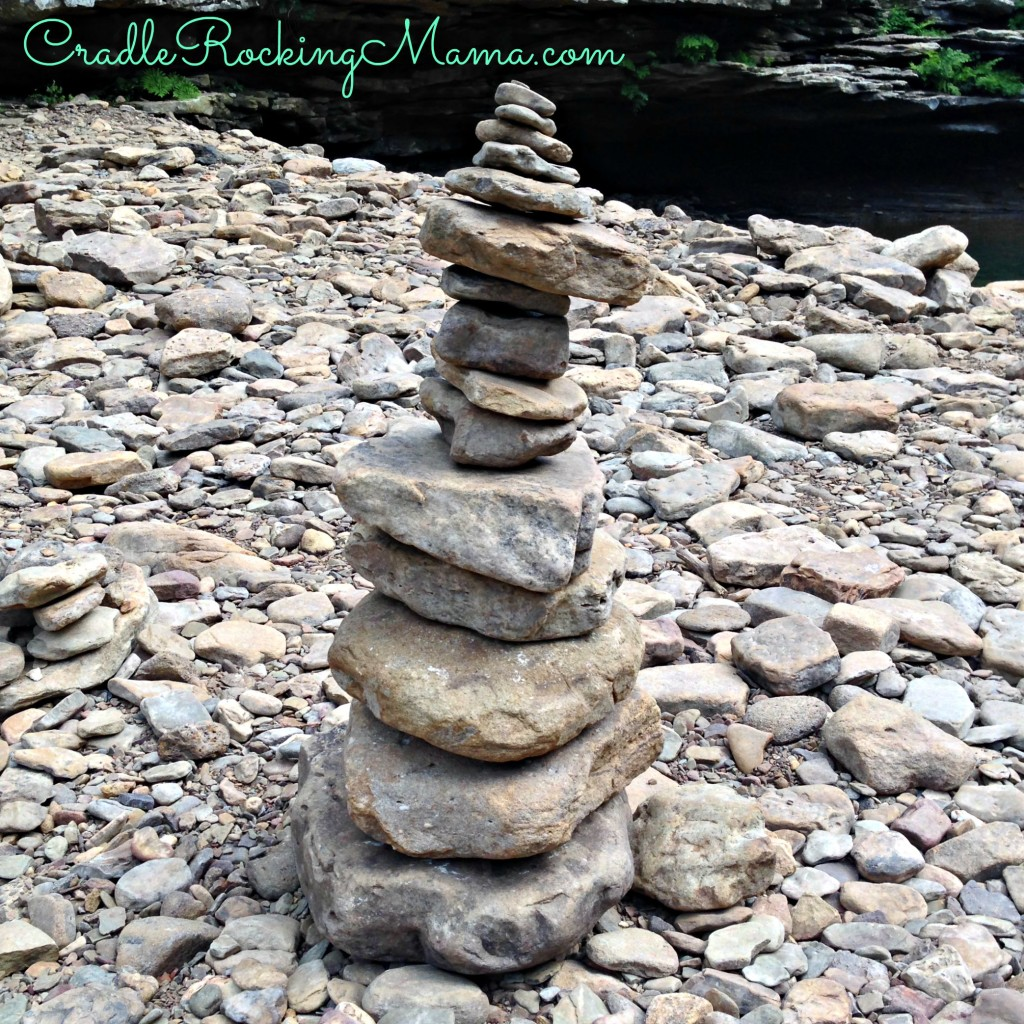 Some previous swimmer had made several of these stacked rock sculptures all around the swimming hole. They were awesome!