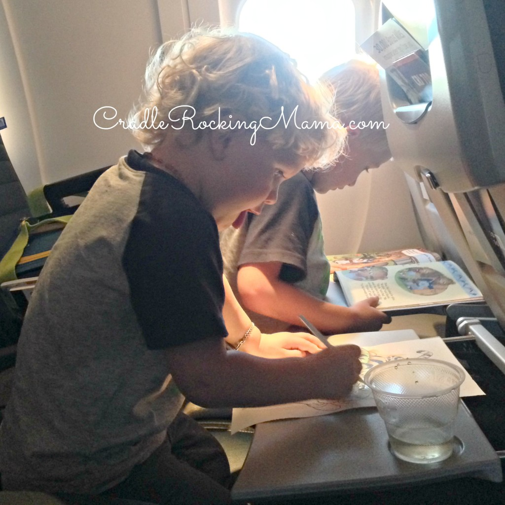 Painting on the Plane CradleRockingMama.com