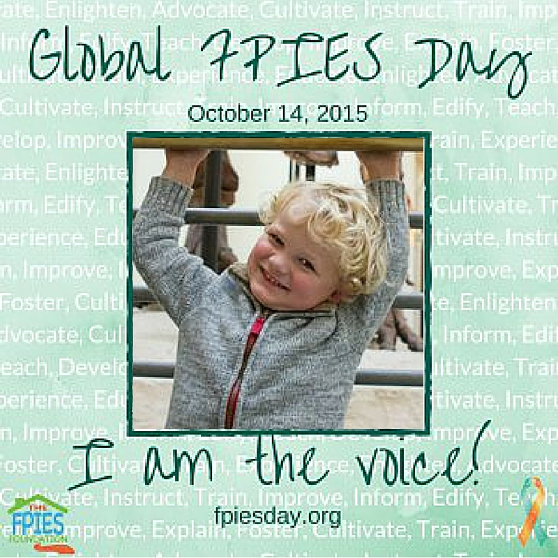Global FPIES Day: Be the Voice CradleRockingMama.com